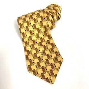 Neiman Marcus NWT 100% Silk Geometric Print Tie